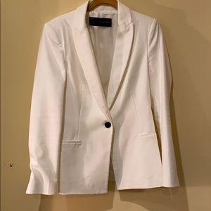 Zara Basics White One Button Blazer -Medium
